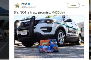 Police departments come out in force with pot jokes on 4/20