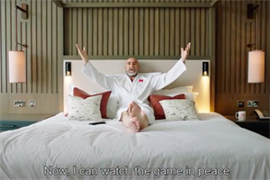 Watch: Cantona's Do Not Disturb Suites for Champions League final