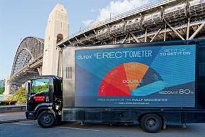 Durex campaign features live 'erectometer' on Sydney streets
