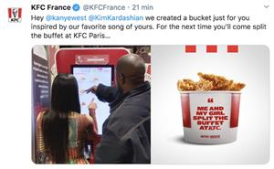 Kim and Kanye order KFC. Say what now?