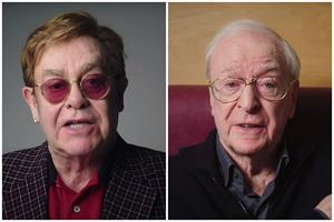 Watch: NHS enlists Elton John and Michael Caine to promote COVID vaccines