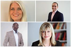 Board members (clockwise from top left): Rachel Friend, Omar Qirem, Alison Clarke and Israel Opayemi