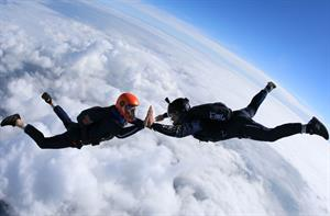'A never-attempted-before record' - Behind the Campaign, Carex high-five skydive