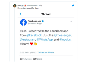Facebook launches new Twitter account...but why?