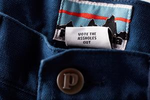 Is 'vote the assholes out' too blunt, even for Patagonia?