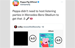 Peppa Pig deletes epic tweet roasting Kanye