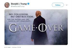 HBO's winter-cold response to Trump's 'Game of Thrones' tweet
