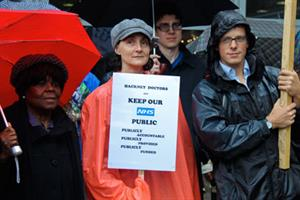 GPs stage protest against NHS reforms