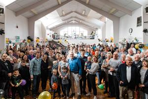 Hundreds of patients join send-off for GP who changed name to highlight underfunding
