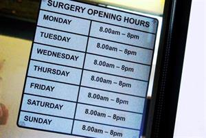 One in three GP practices offer patients access to appointments on Sunday