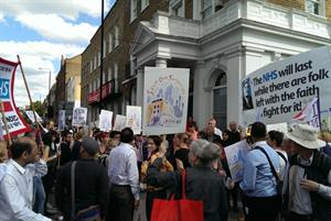 Video: Hundreds march in east London over GP funding threat