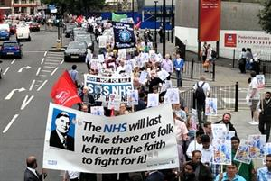 Video: Huge crowds join second GP funding protest in London
