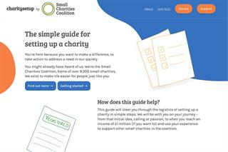 Small Charities Coalition launches charity set-up tool