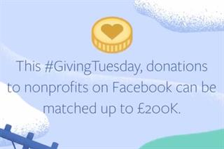 Facebook to match-fund #givingtuesday donations