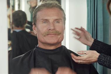 Aviva: David Coulthard dons disguise