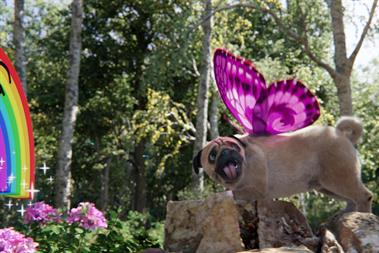 Meet the 'Puggerfly' Three's new virtual pet and data mascot
