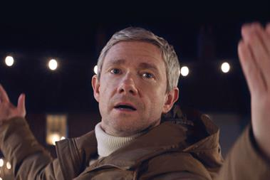 Martin Freeman returns on ice for Vodafone Christmas spot