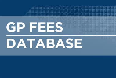 New average fees for private and professional services, November 2016