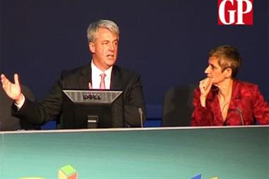 Video: Lansley faces GPs at RCGP conference