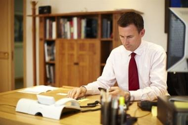 Health secretary Jeremy Hunt backs digital single patient record