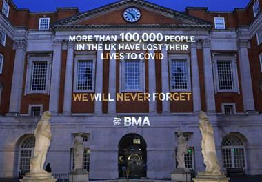BMA mourns 'dark death toll' as UK passes 100,000 COVID-19 deaths