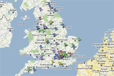 Map of pathfinder clinical commissioning groups