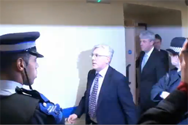 Video: GP confronts Lansley on hospital visit about 'rubbish' Health Bill