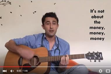 Protest song over junior doctor and GP trainee pay goes viral