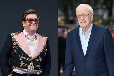 Michael Caine and Elton John record video to promote COVID-19 vaccine