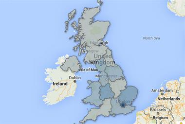 Map: Regional variation in GP workforce over 60 revealed