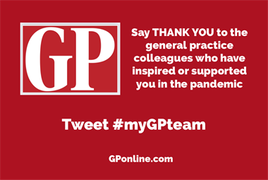 Thank your team for their inspirational work during the COVID-19 pandemic #myGPteam