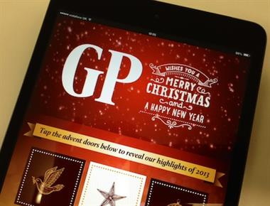 Christmas edition of GP magazine available now - only on the iPad