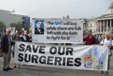 GPs join thousands on final leg of People's March for the NHS
