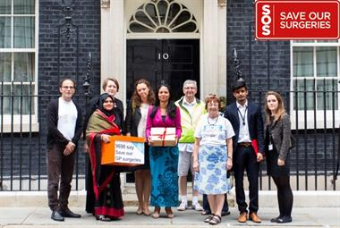 GPs take 20,000-name SOS petition to Downing Street