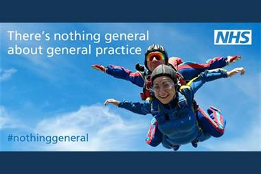 Skydiving GP recruitment ad campaign cost over £100,000