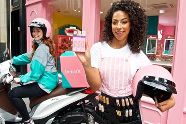 Benefit and Deliveroo dish out beauty experience