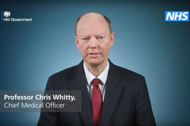 Whitty: issues coronavirus advice