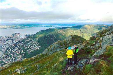 Getting ready to zipwire over Bergen