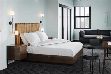 Bedroom in The Guild Hotel