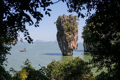 Ko Tapu, in Phang Nga Bay, Thailand