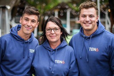 (L-R) Chris Brenta, Leigh Harris and TEN6 CEO Matt Culverhouse