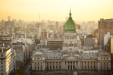 Palacio Del Congreso in Buenos Aires, Argentina.