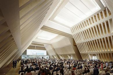 CGI of the convention centre