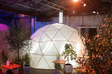Samsung: veggie pizza toppings will grow in a series of domes