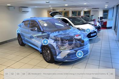 Toyota creates augmented reality experience for new model