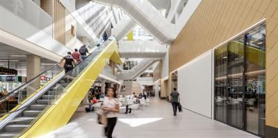 Nearly 6,000 people pass through the building daily. Picture: SHL