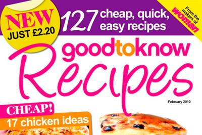 IPC launches monthly cookery title goodtoknow Recipes