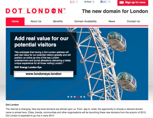 Dot London domains to go on sale in April