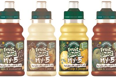 Robinsons Fruit Shoot launches healthier 'My 5' variant