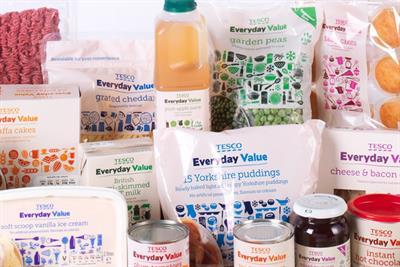 Tesco profits drop 12.4% but Everyday Value boost sales